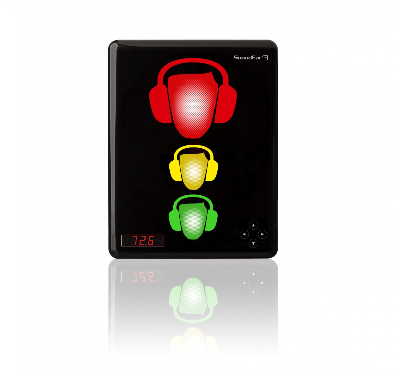SoundEar 3-310 ist ein perfektes Gerät, um Lärm zu überwachen und sich einen Überblick über die Lärmverhältnisse zu verschaffen. Das visuelle Signal zeigt, wann es notwendig ist, den Gehörschutz zu benutzen.